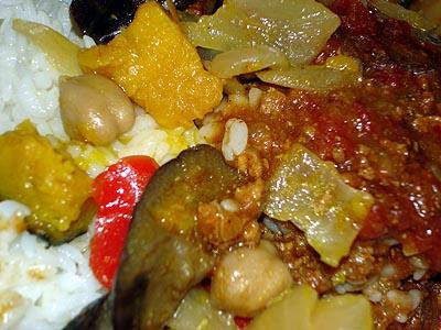 5種類の野菜のキーマカレー