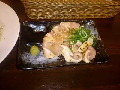 たたき鶏の刺身