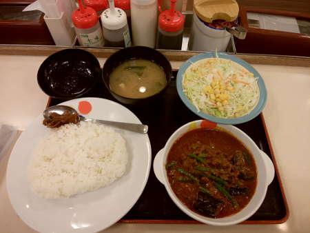 松屋:麻婆カレー定食(並)