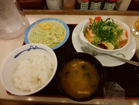 松屋:チーズタッカルビ定食(ライス小)