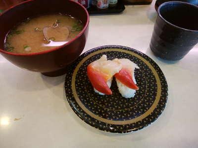 アサリの味噌汁、ほっき貝