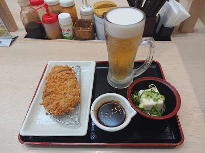 生ビールセット+味噌ソース